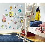 RoomMates Repositionable Childrens Wall Stickers - Spongebob Squarepants