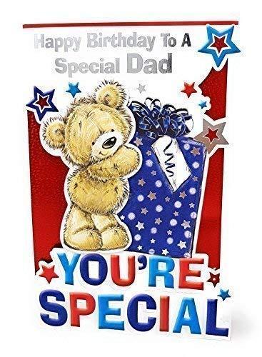 Joyeux Anniversaire To A Special Papa Carte Voeux Anniversaire Ours 22CM X 15CM