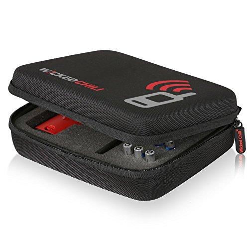 Wicked Chili Funkgerät Case für Motorola TLKR T40 / T41 - Tasche für Zwei Handgeräte, Batterien und Zubehör (Größe: M, Utensilienfach mit Zipper und Trageriemen), TLKR T40 / T41