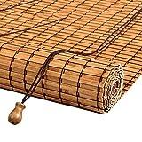 Estores enrollables Persianas enrollables de Montaje Exterior - Puerta/Mirador/Balcón/Sombrilla Exterior, bambú, 110 cm / 120 cm de Ancho (Tamaño : 120×140cm)