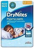 Huggies DryNites hochabsorbierende Pyjama-/ Unterhosen, Bettnässen Jungen Jumbo Monatspackung, 64 Stück (3-5 Jahre)