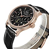 PARNIS Complication 2119 Automatik Herrenuhr Edelstahl-Armbanduhr Lederarmband MIYOTA Schnellschwinger Kaliber 9100 mit Vollkalender und Gangreserve-Anzeige - 3