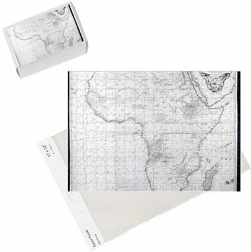 photo-jigsaw-puzzle-of-map-of-africa-engraved-by-guillaume-delahaye-1749-engraving-b-w-photo