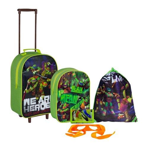Teenage Mutant Ninja Turtles 5 Piece Luggage Set - vert