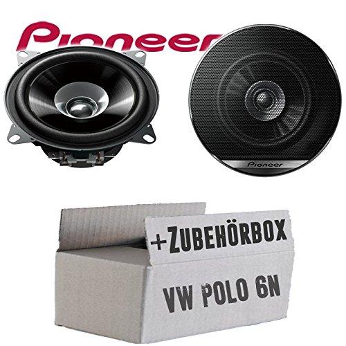 Lautsprecher Boxen Pioneer TS-G1010F - 10cm Doppelkonus 100mm PKW KFZ Auto 190W Paar Einbausatz - Einbauset für VW Polo 6N - JUST SOUND best choice for caraudio