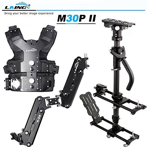 Andoer LAING M30PⅡ professionelle Broadcast-Qualität Aluminiumlegierung Steadicam Stabilisator Kit für Video-Kamera laden Kapazität 4.5 kg - 15 kg