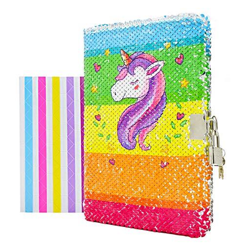 VIPbuy - Diario niñas diseño unicornio cerradura