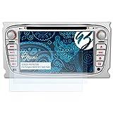 Bruni Schutzfolie kompatibel mit Pumpkin ND0573S 7 Inch Ford Folie, glasklare Displayschutzfolie (2X)