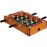 Maxstore Mini Kicker helles Holzdekor Tischfußball Maße: 51x31x8 cm Gewicht: 2,6 kg, 4 Spielstangen Tischkicker inkl. 2 Bälle