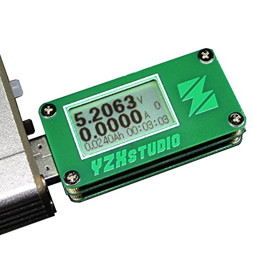 Preisvergleich Produktbild yzxstudio 1266USB Power Meter 0,0001V 0,0001eine 4-24V von kaayee, Spannung, Stromstärke, AH/WH, D +/D Anerkennung, Kabel-Widerstand mit yzxstudio Firmware V3.0.