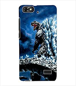 ColourCraft Godzila Design Back Case Cover for HUAWEI G PLAY MINI