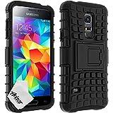 A&M Coque de protection antichoc bi-matière pour Samsung Galaxy S5 Mini Noir