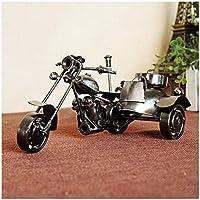 GWModel Vintage De Motor De Tres Ruedas Modelo Hierro Artesanal Vehículo Modelo Antiguo Arte Colección Home