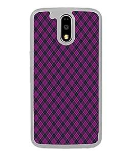 PrintVisa Designer Back Case Cover for Moto G Play (4th Gen) :: Motorola Moto G4 Play (Stripes Vertical Lines Rhombus Quadrilateral Beautiful Design)