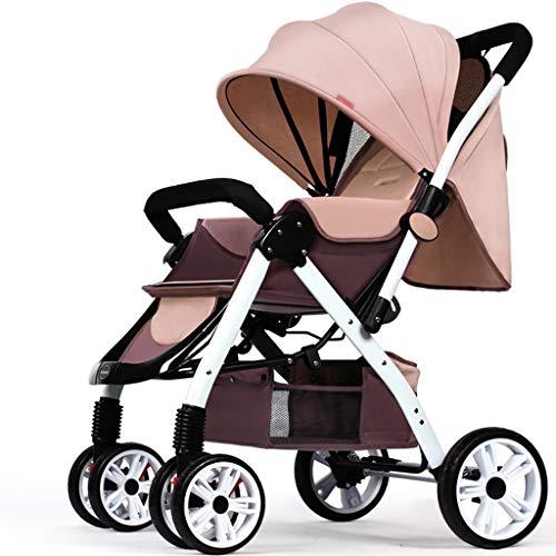 BLWX - Haute Paysage Poussette Peut s'asseoir inclinable léger Pliant bébé Parapluie Quatre Roues bébé léger système de Voyage Voiture Poussette Poussette (Couleur : A)
