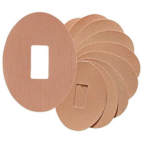 KoojawindPatches für G4 G5 Wasserfester Klebstoff Patch Latex Hypoallergenischer Klebstoff 10Stk, hypoallergener Klebstoff Wasserdichtes Pre Cut Clear Adhesive Patches (Beige) - Latex-klebstoff