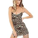 Vestido de cóctel del Vestido Corto Corto Delgado Delgado de la Manera del tamaño de la Manera de Las Mujeres de la Gasa del Leopardo de Las señoras riou