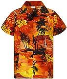 Funky Camicia Hawaiana, Surf New, Arancione, M