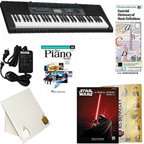 Homeschool Music - Learn to Play the Piano Pack (Star Wars Musical Journey Bundle) - Includes Casio CTK 2550 Keyboard w/Adapter, learn 2 Play DVD/Book, Books & All-Inclusive Learning Essentials
