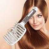 cepillo pelo Nueva antiestática curvo Vent Hair Comb Massager Hairbrush Salon Hairdressing Tool(blanco)