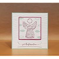 Glückwunschkarte zur Konfirmation, Kommunion oder Taufe, personalisierbar, Handarbeit