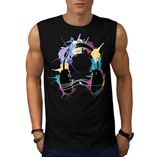 headphone-music-dj-clubbing-beat-men-new-black-m-sleeveless-t-shirt-wellcoda