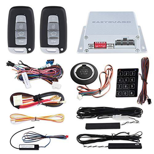 Easyguard Universell Oberseite Qualität PKE Auto Alarm System Passiv Schlüsselloser Zugang Auto Start Druck Knopf Start mit Passwort Tastenfeld