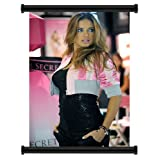 Adriana Lima Sexy Victoria's Secret Model Fabric Wall Scroll Poster (16 x 24) Inches