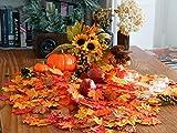 HENMI Ahornblatt, künstliche Ahornblatt,ünstliche Herbst-Ahornblätter Ahornblatt Für Halloween,Thanksgiving Day,Hochzeit und Partei Dekorationen-500 Stück - 7