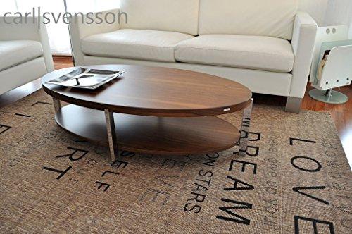 Carl Svensson Design Couchtisch O-111 Walnuss/Nussbaum Chrom