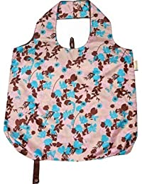B.B.Begonia A80111615 Go With The Flow Printed Reusable Shopping Bag - 19.5 X 16.5 In. Pack Of 3