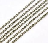 SiAura Material 10m Gliederkette Halskette Statement Meterware bronzefarben 4x2