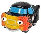 Dickie Toys - Helden der Stadt, Tobi Turbo, das Rennauto mit Licht, originalen Liedern, Sounds und Freilauffunktion, inkl. Sammelkarte mit Geheimcode