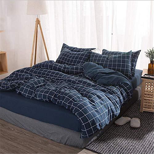 SHJIA Einfarbig Ägyptischer Baumwolle Bettwäsche Set Bettbezug Kissenbezug König Königin Größe B 180x220 cm -