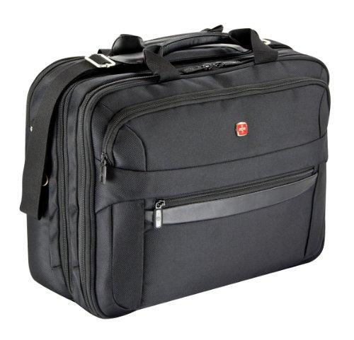"""Wenger W72992291 Basic - Maletín portadocumentos con compartimento para portátil (17"""", 27 L), color negro"""