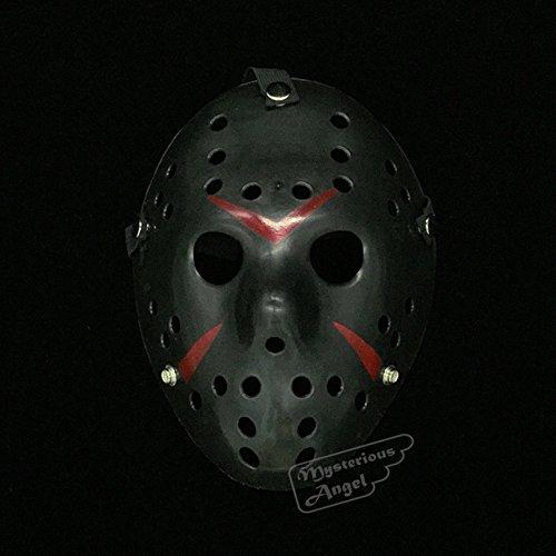 s Jason Maske Hockey Cosplay Halloween Weihnachten Killer-Horror-Maske [Schwarz] ()