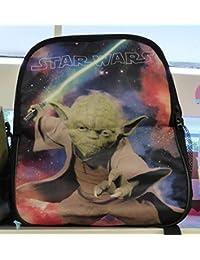 Preisvergleich für 2 in 1: Rucksack Star Wars mit Wechselmotiv - Yoda + Darth Vader Clone Wars Starwars Kinderrucksack