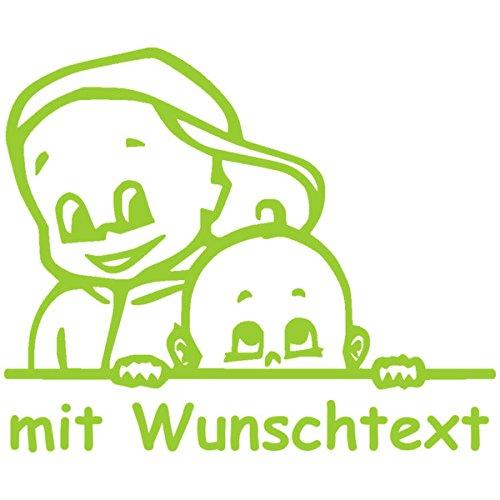 Babyaufkleber Autoaufkleber für Geschwister mit Wunschtext - Motiv G3-JJ (16 cm)
