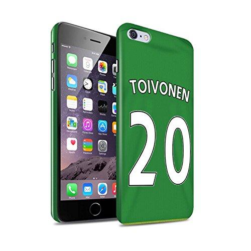 Offiziell Sunderland AFC Hülle / Glanz Snap-On Case für Apple iPhone 6+/Plus 5.5 / Torwart Muster / SAFC Trikot Away 15/16 Kollektion Toivonen