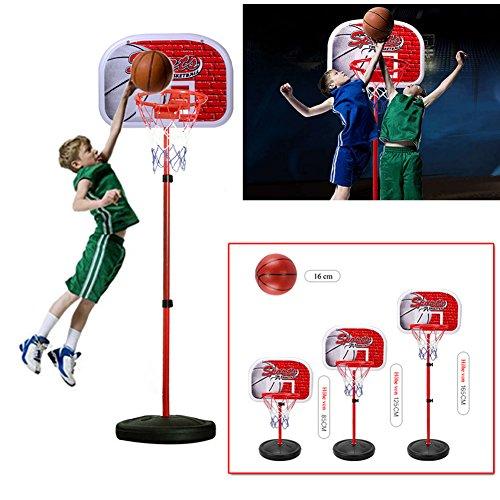 EMOTREE 80-165CM Kinder Basketballkorb Basketballständer Verstellbar Basketball Korb Spiel Set Kinder Geschenk