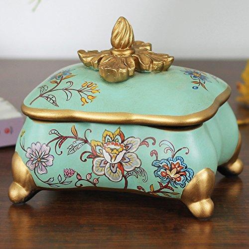 Julytong Keramik Schmuck, Kunsthandwerk hibiscus Tonerpatrone Druckpatrone dekorative Einrichtungsgegenstände sind in der Box Schmuck, im Lieferumfang enthalten