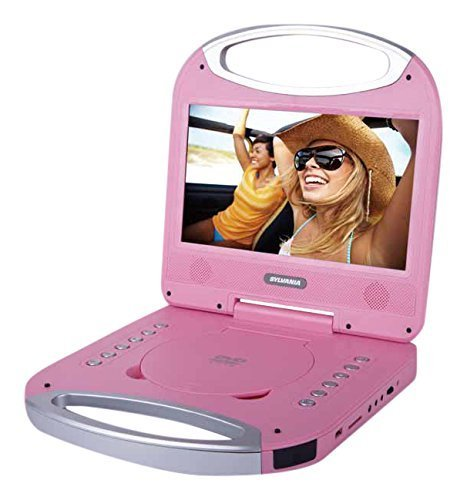 Pink , 10-Inch : Sylvania 10-Inch Portable DVD Player with Integrated Handle and USB/SD Card Reader, Pink