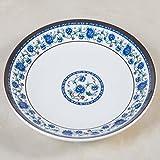 Kaxima Melamin Chinesisch blau und weiß Porzellan Gericht Gericht Teller Platte Platte Platte Platte 2 Stück 33*33cm