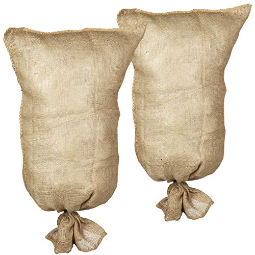 com-four® 2X Jute Pflanzenschutzsack - Winterschutz-Haube für Pflanzen - Jute-Abdeckung als Witterungsschutz - Kübelpflanzensack (02 Stück - Jutesack)