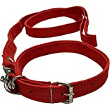 Sollar'S Neck Collar Belts and Leash Set, Medium, Red