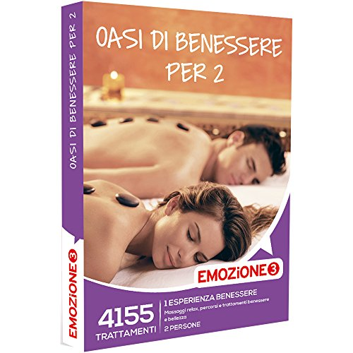 Emozione3 - oasi di benessere per 2-4155 esperienze con massaggi, percorsi e trattamenti benessere e beauty, cofanetto regalo, benessere