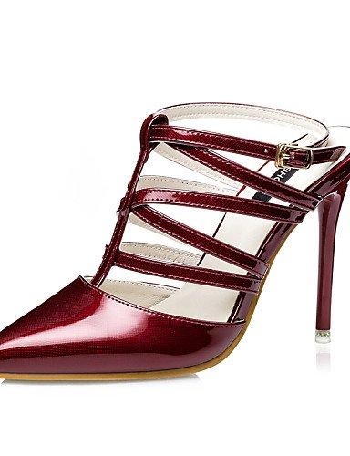 LFNLYX Scarpe Donna-Sandali-Formale-Tacchi / Con cinghia / A punta / Chiusa-A stiletto-Finta pelle-Nero / Rosa / Argento / Dorato / Borgogna golden