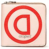 Desigual Portafoglio da donna Mone_Logo Patch Zip Square Beige (Beige)