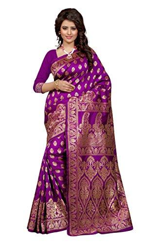 Seemore Tassar Silk Saree (Banarasi 1002 Majenta_Magenta)