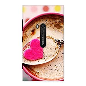 Stylish Pink Love Coffee Multicolor Back Case Cover for Lumia 920